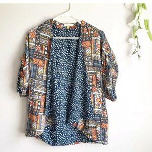 Anthropology silk kimono